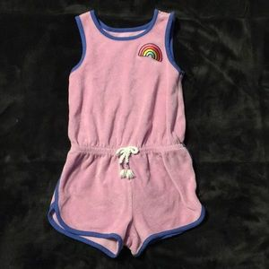 Cat & Jack 4t romper pink and blue